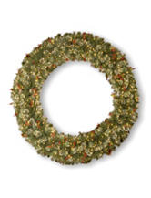 National Tree Company 70 Inch Wintry Pine Wreath With Clear Lights