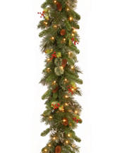 National Tree Company  9ft. Wintry Pine Garland With Clear Lights