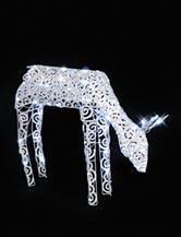 LB International White LED Scroll Reindeer