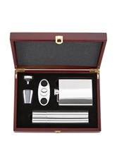 Gorham That's Entertainment 5-pc. Flask & Cigar Set