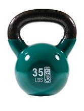 GoFit® 35-lb Green Contour Kettlebell & DVD