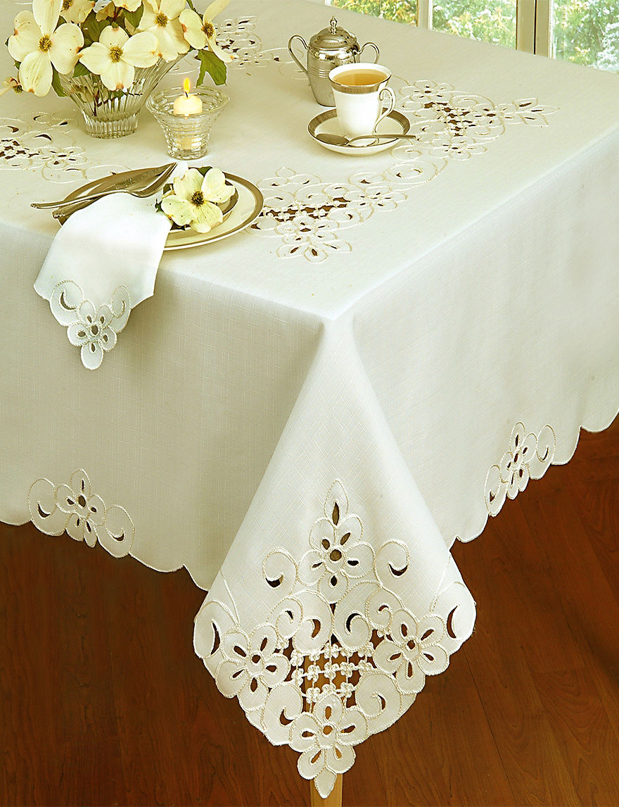 Home Wear Ivory Tablecloths Table Linens