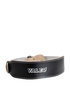 Valeo 4 Inch Black Leather Weight Training Belt - Small