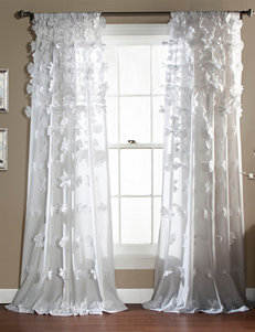 LushDecor Sheer Riley 3-D Bow Curtains
