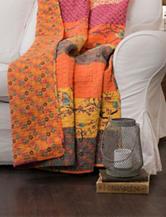 LushDecor Royal Tangerine Throw Blanket