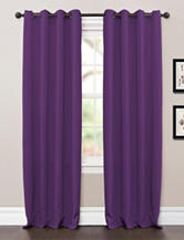 Lush Decor Solid Color 63-Inch Jamel Window Panels