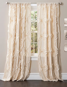 Lush Decor Ivory Curtains & Drapes Window Treatments