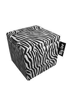 Comfort Research Big Joe 15 Inch Zebra Ottoman