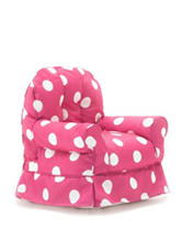 Comfort Research Big Joe Pink & White Dot Gabardine Bubs Chair