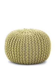 Comfort Research Green Rope Pouf Ottoman