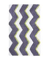 Jessica Simpson Dusk Purple Zigzag Multi Stripe Bath Rug