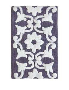 Jessica Simpson Dusk Purple & White Bali Bath Rug