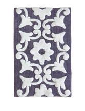 Jessica Simpson Dusk Purple & White Bali Bath Rug