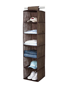 Simplify Espresso Garment & Drying Racks Storage & Organization