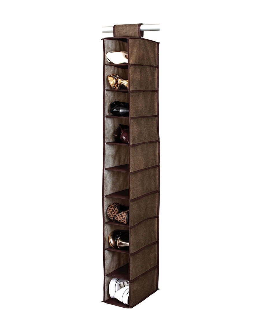 Simplify Espresso Garment & Drying Racks Storage & Organization