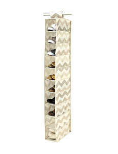 Macbeth Collection® Textured Chevron 10-Shelf Shoe Organizer