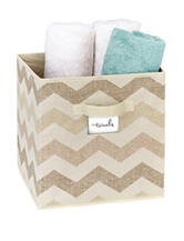 The Macbeth Collection Textured Chevron Print Storage Cube