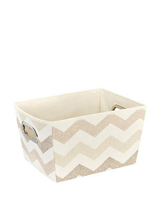 Macbeth Collection® Textured Chevron Print Grommet Tote