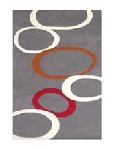 Alliyah Rugs Contemporary Circles New Zealand Blended Wool Rug