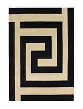 Alliyah Rugs End Of The Maze Print New Zealand Blended Wool Rug