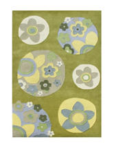 Alliyah Rugs Look At Me Floral Print New Zealand Blended Wool Rug