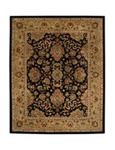Alliyah Rugs Indigo Traditional Print New Zealand Blended Wool Rug