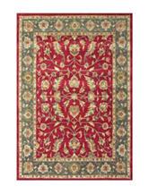 Alliyah Rugs Burgundy Traditional Print New Zealand Blended Wool Rug