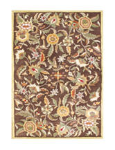 Alliyah Rugs Flower Print New Zealand Blended Wool Rug