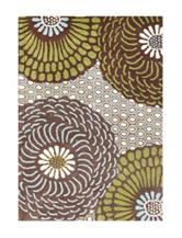 Alliyah Rugs Dizzy Daisy Print New Zealand Blended Wool Rug