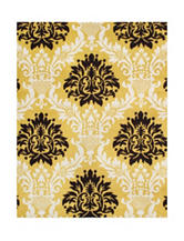 Alliyah Rugs Yellow Damask New Zealand Blended Wool Rug