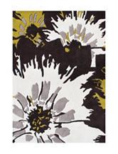 Alliyah Rugs Pop Art Floral Print New Zealand Blended Wool Rug