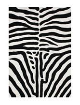 Alliyah Rugs Zebra Print New Zealand Blended Wool Rug
