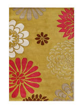 Alliyah Rugs Bold Floral Print New Zealand Blended Wool Rug