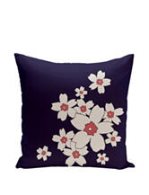 Simply Daisy Danielle Navy & Pink Blossom Print Pillow