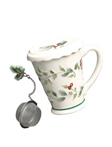 Pfaltzgraff Winterberry Covered Mug with Tea Infuser