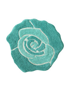 Jessica Simpson Turquoise Blue Bloom Bath Rug