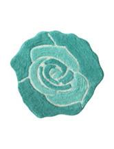 Jessica Simpson Turquoise Blue Bloom Bath Rug