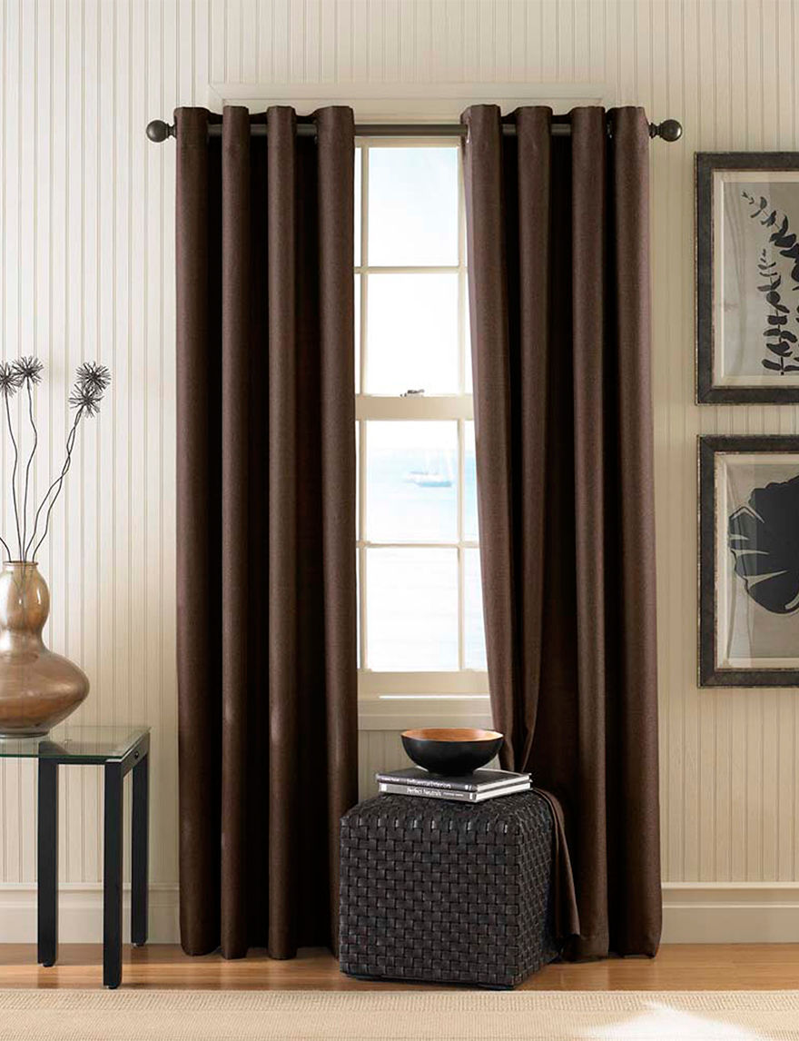 Curtain Works Dark Brown Curtains & Drapes Window Treatments