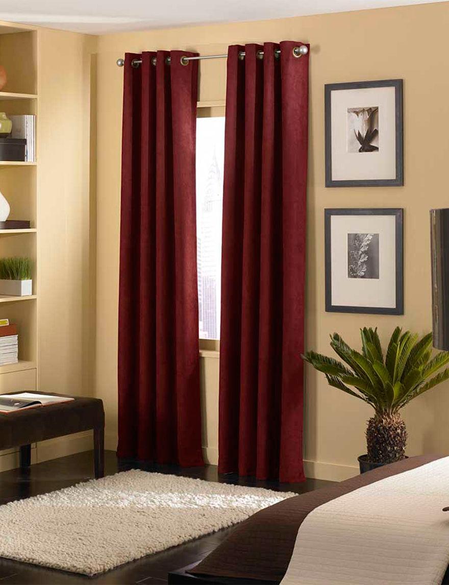 Curtain Works Burgandy Curtains & Drapes Window Treatments