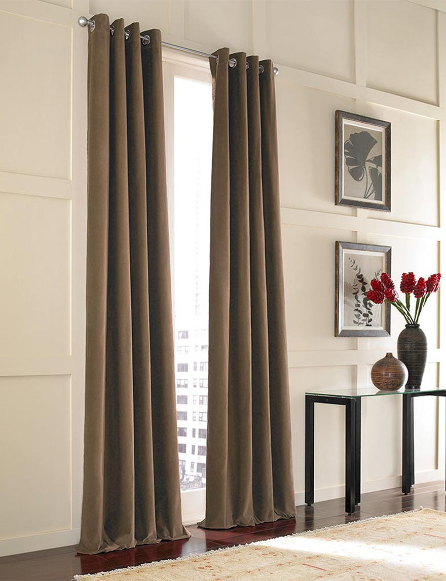 Curtain Works Mocha Curtains & Drapes Window Treatments