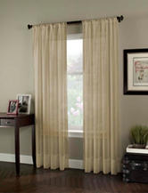 Curtain Works Soho Voile Single Curtain Panel - Antique