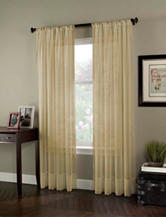 Curtain Works Soho Voile Single Curtain Panel - Honey