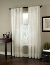Curtain Works Soho Voile Single Curtain Panel - Oyster