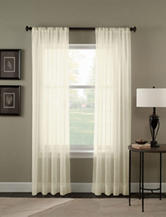 Curtain Works Trinity Crinkle Voile Single Curtain Panel - Oyster