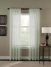 Curtain Works Trinity Crinkle Voile Single Curtain Panel - Sage