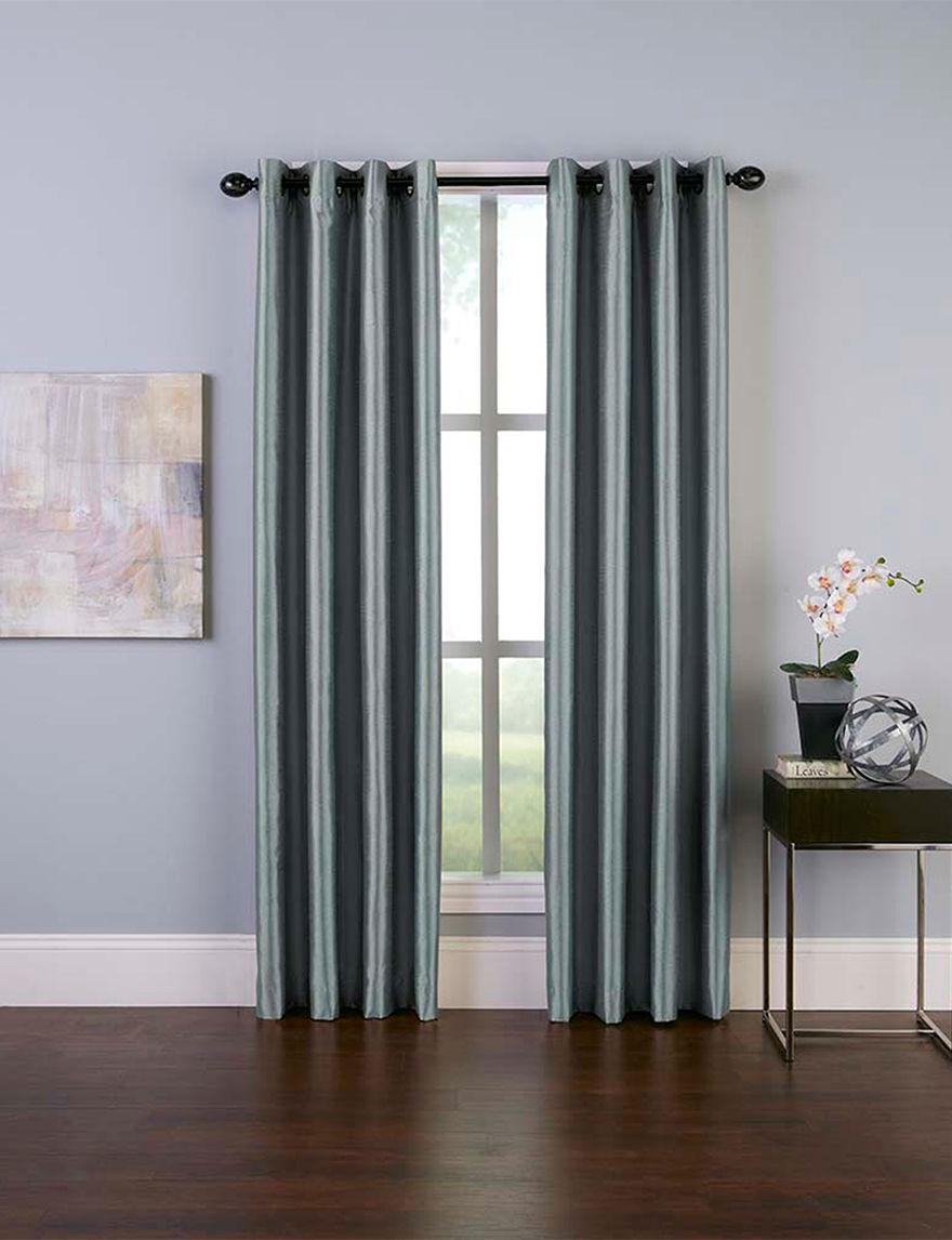 Curtain Works Teal Curtains & Drapes Window Treatments
