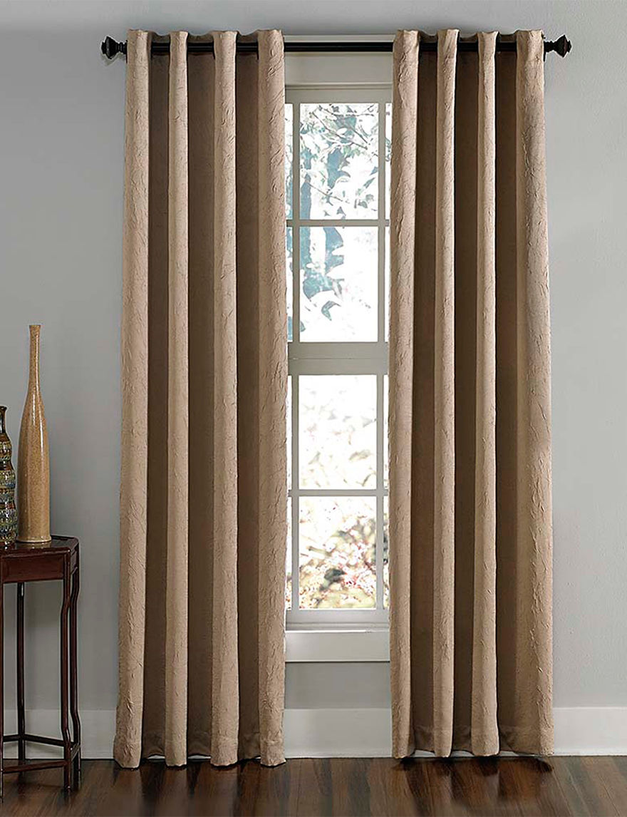 Curtain Works Taupe Curtains & Drapes Window Treatments