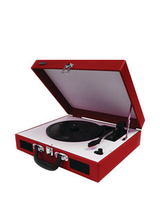 Jensen Red Turntables Home & Portable Audio