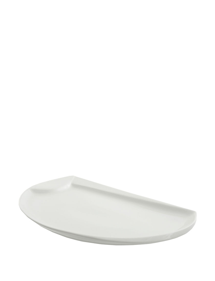 10 Strawberry Street White Serving Platters & Trays Serveware