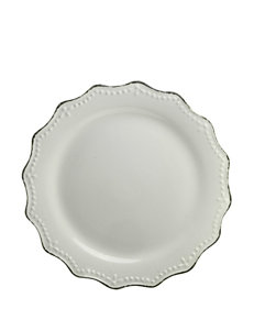 10 Strawberry Street Cream Plates Dinnerware